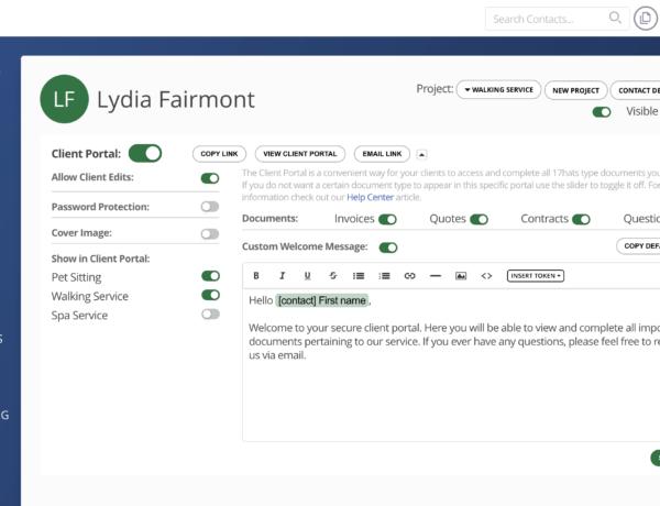 17hats Client Portal Features